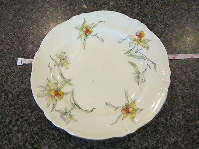 CROWN STAFFORDSHIRE BREAD BUTTER SIDE PLATE YELLOW DAFFODIL w/ GOLD TRIM f