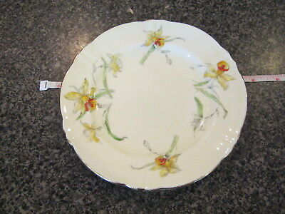 CROWN STAFFORDSHIRE BREAD BUTTER SIDE PLATE YELLOW DAFFODIL w/ GOLD TRIM g