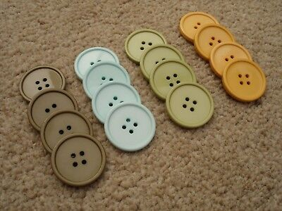 stampin up buttons large circle pastel colours new 16 in total