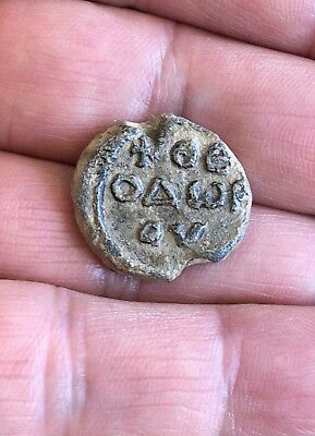 Byzantine Lead Seal / Bleisiegel, Virgin Mary / Greek Inscription