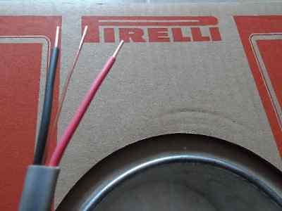 1.5MM TWIN AND Earth cable (old wiring colours) Red & Black Pirelli ...