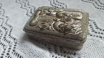 Meiji period japanese dragon metal box