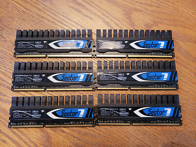Patriot Sector 7 DDR 3 1600 Mhz PV736G1600LLK 12 Gb (2 Gb x 6)