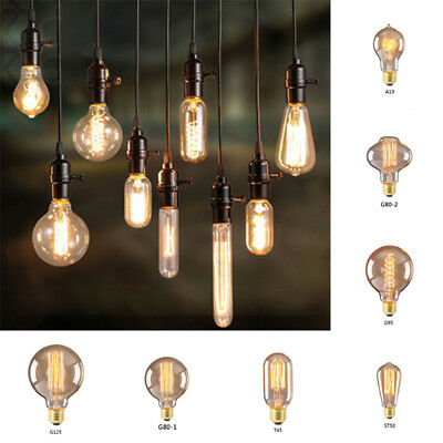 Antique Filament E27 Retro Vintage Light Bulb Edison Style 40w Home Decorative