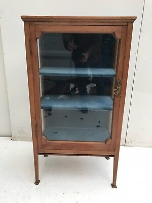 Arts & Crafts 3 shelf Glass Display Cabinet.