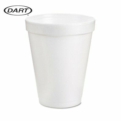 White Disposable Dart Hot And Cold Insulated Foam Drinking Coffee Cups 8Oz 51Pcs