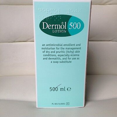 Dermol Lotion Skin Cream 500Ml Pump Action Expy Aug 2018 Moisturiser Antimicrobe