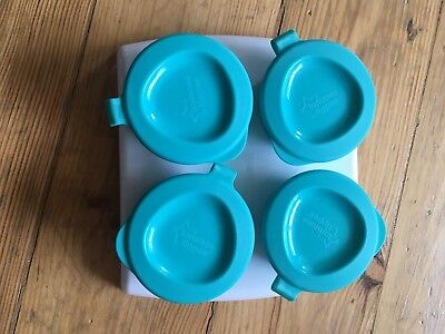Tommee Tippee Weaning Freezer Pots & Tray Blue 4m+