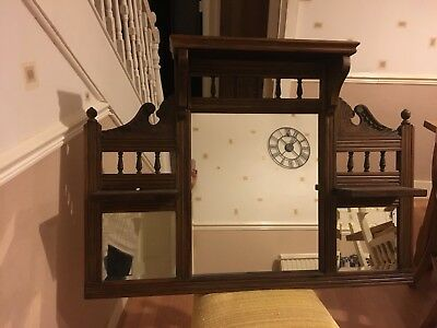 Edwardian overmantle Mirror