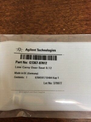 Used Agilent Infinity Low Carry Over Seat 0.12 G1367-87012 HPLC 1100/1200