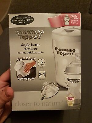 TOMMEE TIPPEE Single Bottle  Travel Steriliser - BRAND NEW