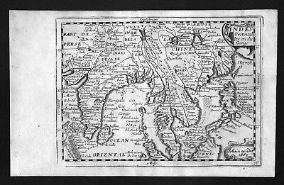 1687 India Vietnam Thailand China Asia Philippines Burma Jollain map carte Karte