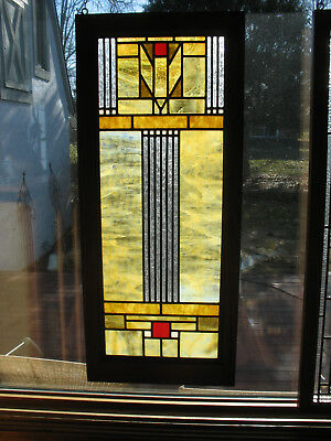 Prairie/craftsman Style Opalescent Stained Glass Window