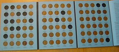 72 Coins 1909-1940 Lincoln Wheat Cent Penny Collection Lot Whitman Album