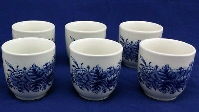 Churchill Made in England Egg Cups Blue and White Pristine Condition
