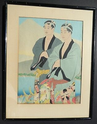Paul Jacoulet Japanese Woodblock Print Hand Signed