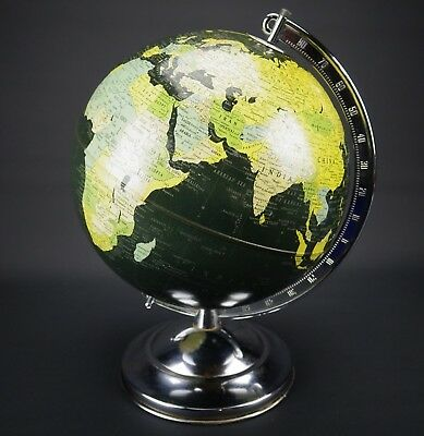 "Rare Late 1948 Replogle Gustav Brueckmann Chicago Simplified 10"" Metal Globe"