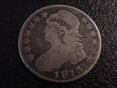 1813  Capped Bust Half Dollar Uni Variety Rated R4