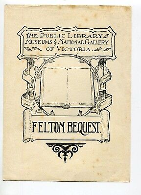 Ex Libris by Shirlow for Felton Bequest