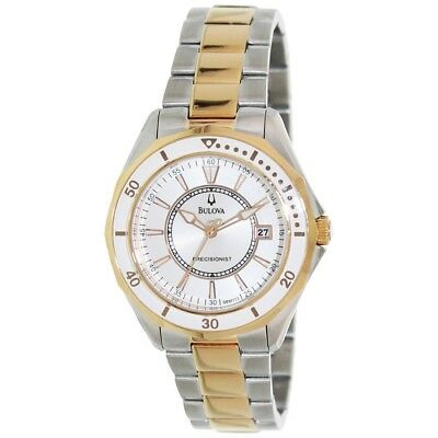 Bulova Women's 98M113 Precisionist Winter Park Two-tone Rose Gold Watch