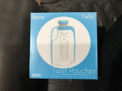 Kiinde Breast Milk Storage Twist Pouch 6 oz - Pack of 40 Disposable Bags