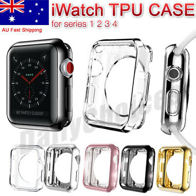Apple Watch Series 4/3/2/1 Silicone TPU Bumper Case Cover For iWatch 38 42 40 mm