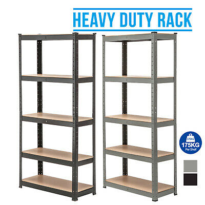BN 5-Tier Heavy Duty Metal Shelving Storage Racking Unit Boltless Shelves Garage