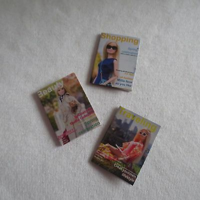 ADD ON ITEM! NEW  Barbie Pink Passport Vacation Doll Mini Magazines For Diorama