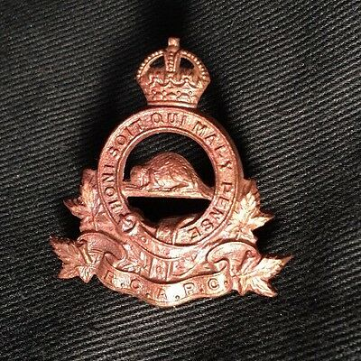 WWII ROYAL CANADIAN ARMY PAY CORPS collar dog badge Canada WW2 RCAPC