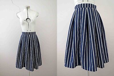 Candy Cane Strip Blue White Gathered Nautical Skirt S Buy 3+ items for FREE Post