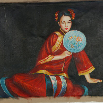"""Hand-painted Oil Painting On Canvas - Pained Chinese beauty 43""""x27"""" DYH038"""