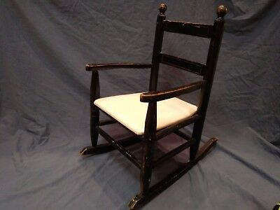 Old Wood Child's Rocking Chair