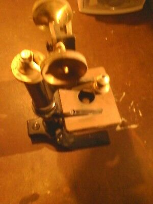 Antique Bausch And Lomb Cast Iron Microscope