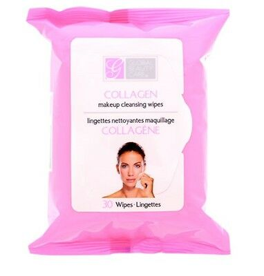 Global Beauty Care Collagen Makeup Cleansing Wipes 30 ct