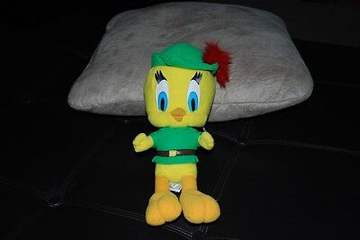"Tweety Bird Robin Hood Plush Doll Warner Bros 12"" Rare"