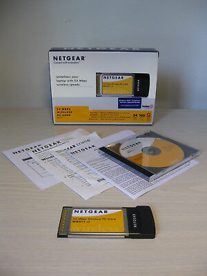 Netgear WG511 GE V2 2.4GHz 802.11g 54Mbps PCMCIA Wireless Network Card - EC