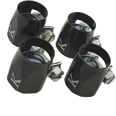 4-PCS 6AN AN 6 AN -6 black Fuel  Hose Line End Cover Clamp Finisher Fitting