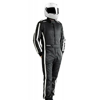 New Momo Suit Pro Racer Black Size 52 Black Nomex Shiny Raso 3.2a/5 SFI Rating