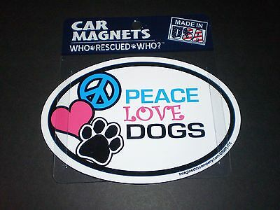 PEACE LOVE DOGS    Car Dog Magnets