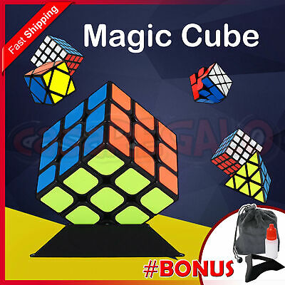 Magic Cube Skewb Super Smooth Fast Speed Rubik Puzzle Rubics Rubix 2x2 3x3 4x4