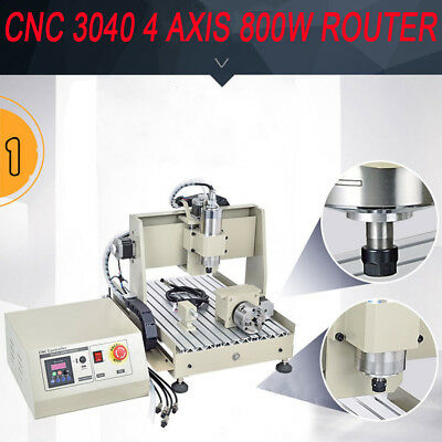 USB 4 Axis 3040 800W CNC Router MACHINE Engraver Graviermaschine Water-cooling