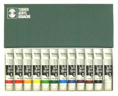 Turner Acryl Gouache Set of 12 20 ml Tubes
