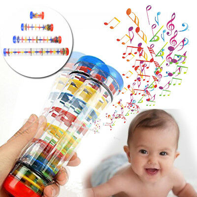 Baby Child  Hand Musical Music Instrument Rattle Bell Tube Shaker Rain maker