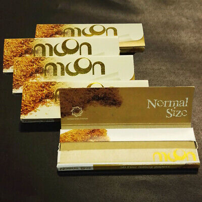 5×50 sheets 70mm 1.0 inch Moon Unbleached Cigarette Rolling Papers 250 leaves