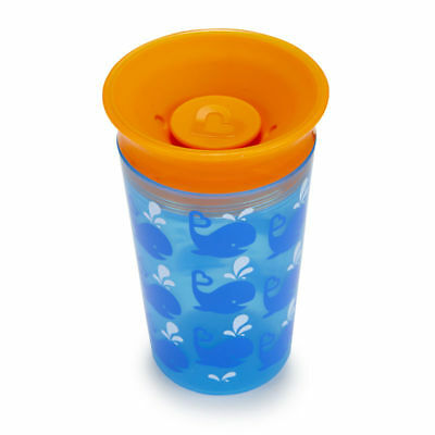Munchkin Miracle 360 Degrees Deco Sippy Cup, 9 oz/266 ml, BLUE WHALE Boys Beaker