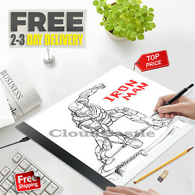 A4 TRACING LED Light Box Thin Stencil Painting Drawing Board Sketch Pad USB