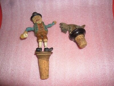 Vintage Pair of Articulated Cork Stoppers
