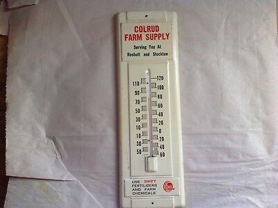 Colrud Farm Supply, Rosholt & Stockton Wisconsin Thermometer, Swift's