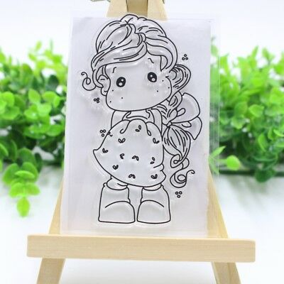 Girl Transparent Clear Rubber Stamp Silicone Photo Album Scrapbooking DIY Crafts