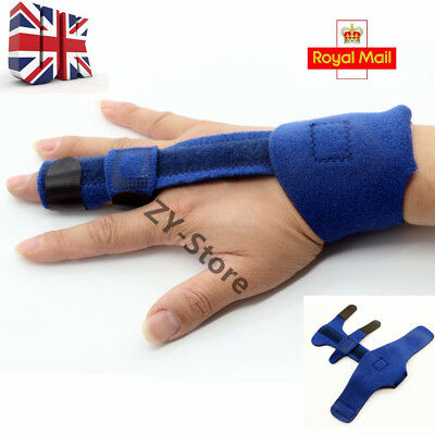Blue Finger Extension Splint Trigger Malleable Metallic Hand Orthotics Braces UK